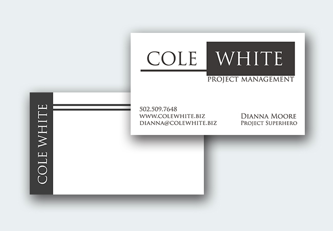 Cole White Business Cards