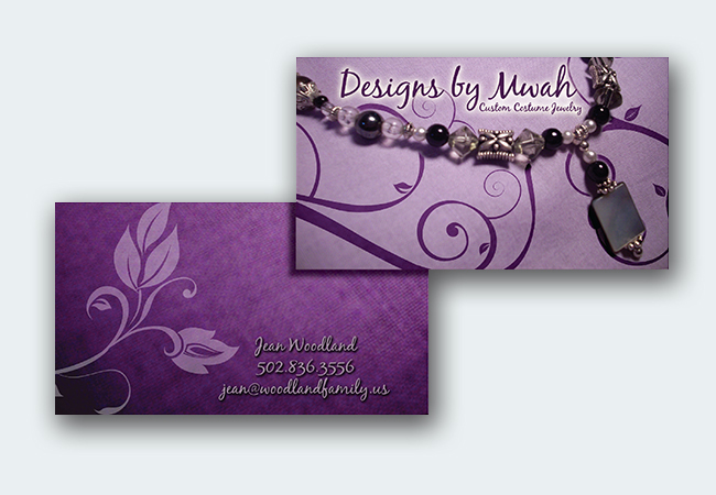 Designs by Mwah Business Cards