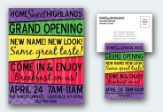 HomeSweetHighlands Grand Opening Poster and Postcard