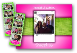 Custom Photobooth Strips and Backgrounds for social media