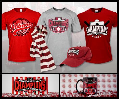 Indiana University B1G Championship Merchandise