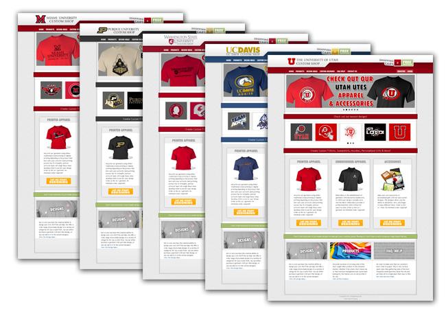 Website Mockups for CustomU.com